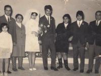 Agnesa Horváthová , svatba 26.11.1969