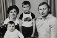 Bohdan Ševčuk s manželkou Halinou a dětmi Andrejem a Alexejem