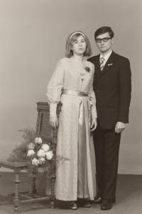 Helena Nosková a Jiří Nosek svatba 1972