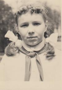 Helena Berková - Nosková, pionýrka 1961 Žilina