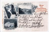 Nýznerovský vodopád, hostinec a mlýn -1899