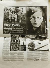 Článek v britských novinách o aglickém zajatci Chrisi Ayresovi, který za války pracoval v zajateckém táboře v Nýznerově