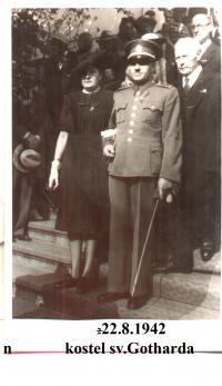 Vojtěch Babůrek and his wife