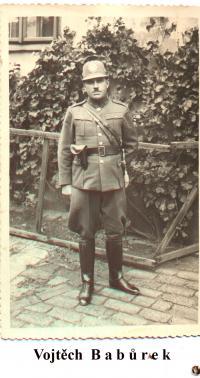 Vojtech Babůrek in the police uniform