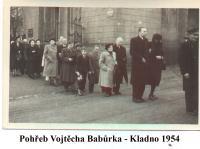 Burial V. Babůrka in Kladno - 1954