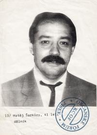 Matěj Šarközi jako kandidát OF do místního zastupitelstva v Písku