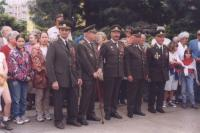 Veteráni z 2. světové války – první zleva Josef Prokůpek, první zprava Mikuláš Šereťuk