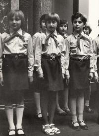 1976 Irena Králová vzadu vpravo