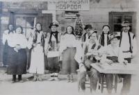Rusínská veselka v obci Bohdan na Podkarpatské Rusi