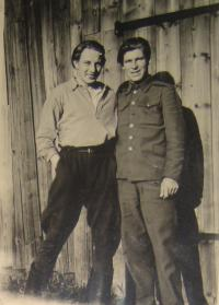 Vojtěch Cimbolinec in the 1st Czechoslovak Army Corps (on the right side)