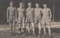 soccesr player Jaroslav Hrubeš second left