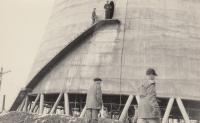 Jaroslav Hrubeš working on cooling tower