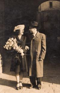 Svatba s Ottou Immerglückem, Praha 1947