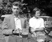 Josef Svoboda with his niece Libuše several months before the arrest / Brno / 1949