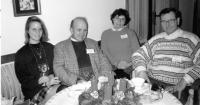 Josef Svoboda / right / with friends Milena Rychnovská and Jan Květ and his daughter Helen / Třeboň / 1990s