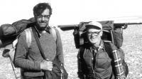 Josef Svoboda with his professor Lawrence C. Bliss / Canada / 1970s