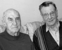 Josef Svoboda with his fellow prisoner and co-exil seeker, Jiří Krupička, a professor of geology at the Albert University in Edmonton / 2008
