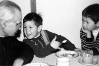 Sons Ondřej and Michal with their father, Josef Šach, Czech missionary in Canada