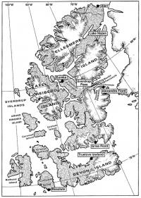 The northernmost islands of the Canadian archipelago with Resolute, Eureka and Alert bases and research sites: Lowland Truelov, Alexandrina fjord, Svedrup Pass and Lake Hazen / Josef and his team of co-workers dedicated themselves to field research