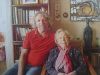 With her son Jiří Zajonc