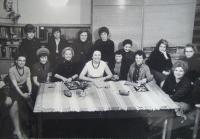 Editors of Vlasta, Zdena Zajoncová is the first row third person from the left