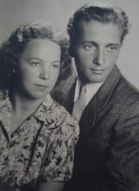 With husband Jiří Zajonc