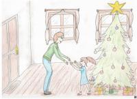 Ilustrace k příběhu pamětnice - Matka se vrací na Štědrý den ze Svatobořic