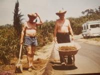 Pan Dražil s kamarádem, Fallbrook, červenec 1992