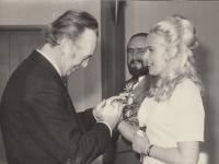 1974 Svatba pamětníka s Ivou Kotkovou
