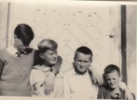 Čtyři bratři Dohalští zleva Václav, Jiří, Antonín, Zdeněk