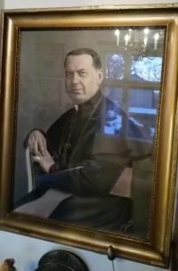 hrabě, kněz Antonín Bořek Dohalský 1889-1942 obraz Lysá nad Labem