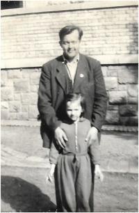 s otcem v Havlíčkově Brodě, 1955-1956