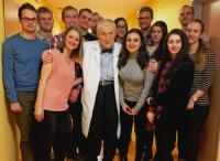 Josef Koutecký se svými studenty
