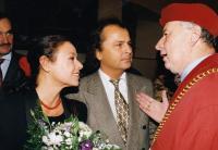 s Václavem Hudečkem a jeho ženou