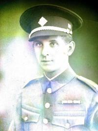 Otec pamětníka Aleš Neumann Norský v legionářské uniformě