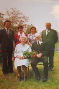 Rodiče Franz a Angela Schlegelovi při zlaté svatbě v roce 1983