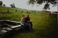 Erika Bednarská s manželem v Hraničkách