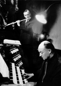 1961, s Jiřím Ropkem u sv. Jakuba
