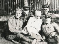 Ruští vojáci - osvoboditelé, Barchůvek, 1945
