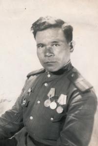 Ruský voják - osvoboditel,  Nový Bydžov, 1945