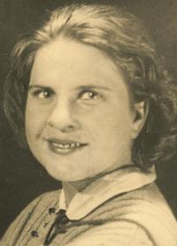 Ruská vojačka Táňa Čirkova, sovětská písařka, 1945