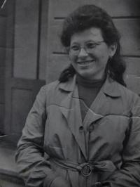 Irena Ondruchová in Javorník in 1946