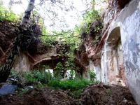 Zaniklá osada Hamberk / zřícenina domu, ve kterém v letech 1945 až 1954 žila Irena Ondruchová / snímek z roku 2013