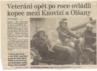 8. a Závody v Knovízi - článek z novin