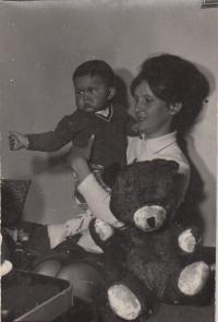 Michal Dočekal cca 1966 (asi s tetou)