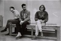 listopad 1989, s Pavlem Langrem a Martou Kubišovou