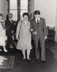 svatba syna Karla na Karlštejně, 80. léta