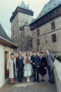 svatba syna Pavla na Karlštejně, 80. léta
