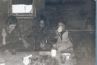 Members of underground at the house in Řepčice