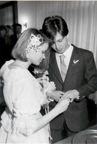 Peter's wedding in 1986